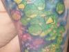 Green faceless dice