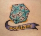 Courage Dice Tattoo