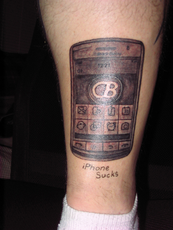 Blackberry Storm Tattoo 6