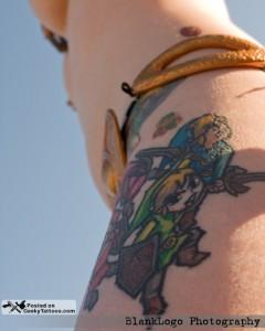 Zelda Leg Tattoo