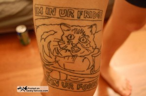 LOLcat tattoo