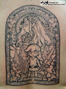 Zelda stained glass tattoo