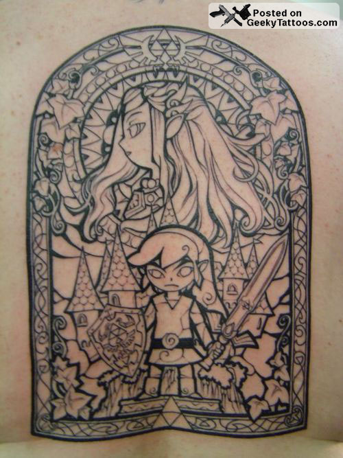 Stained Glass Zelda Tattoo At Geeky Tattoos