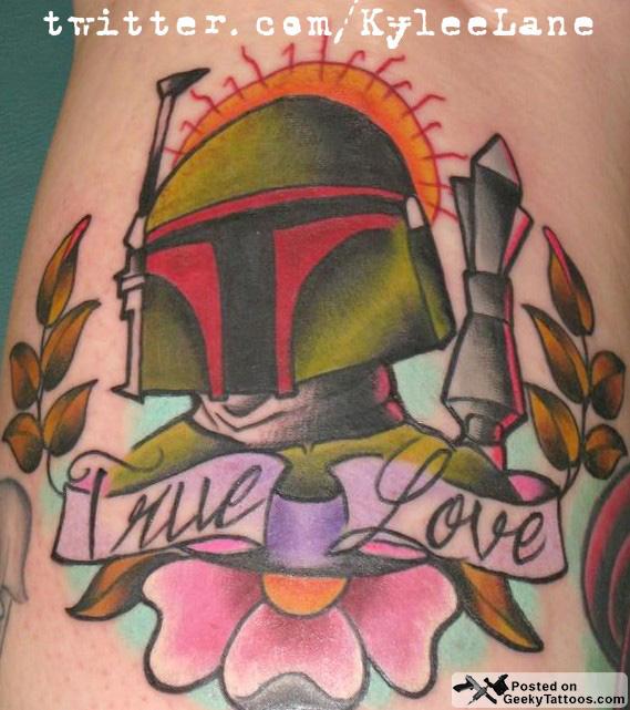 Boba Fett True Love Geeky Tattoos