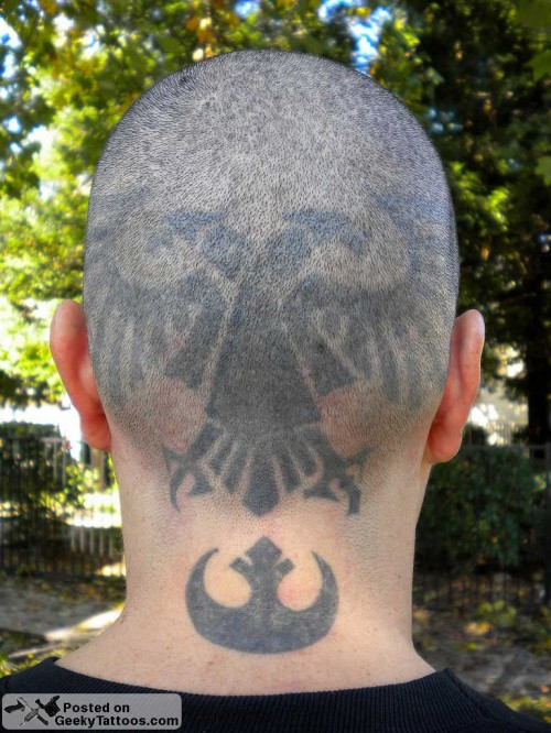 Warhammer Head Tattoo