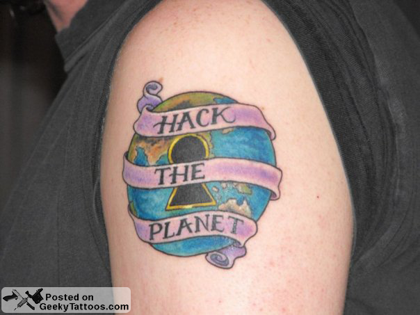hack the planet tattoo geeky tattoos
