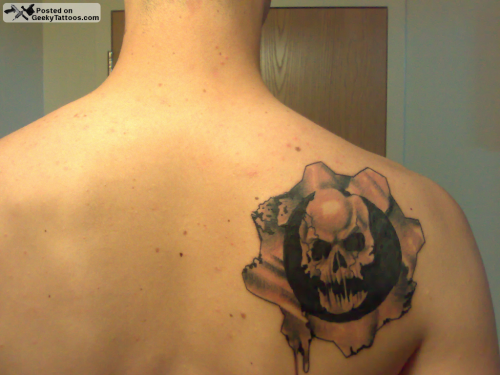 Geeky tattoos part 31 for Gears of war logo tattoo