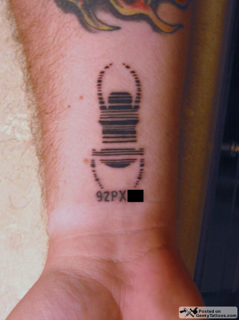 Geocaching Travel Bug Tattoo