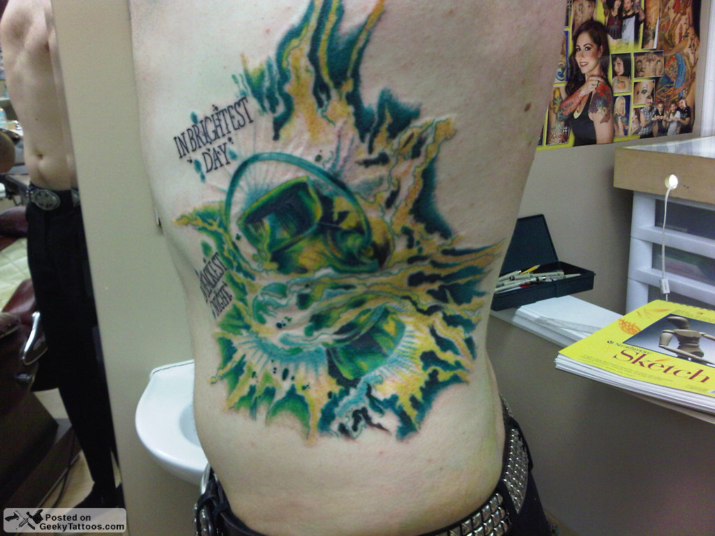 Great Green Lantern Tattoo! @ Geeky Tattoos