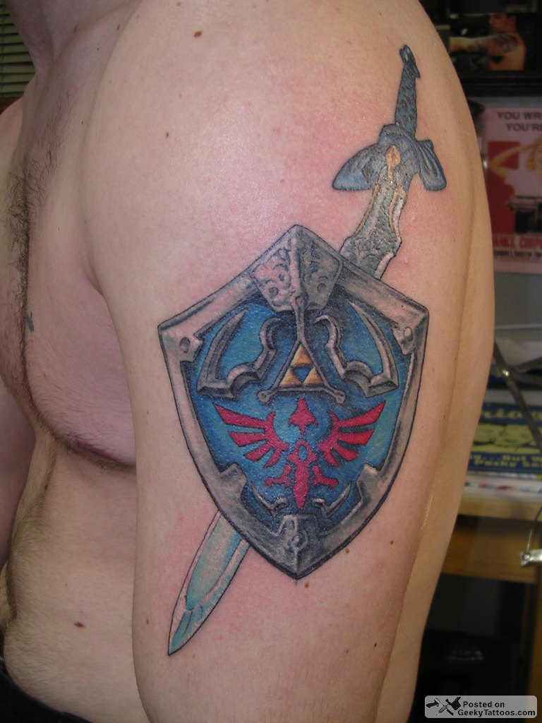 3D Shield Tattoo