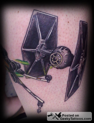 fighter tattoos. X-Wing amp; TIE Fighter Tattoo