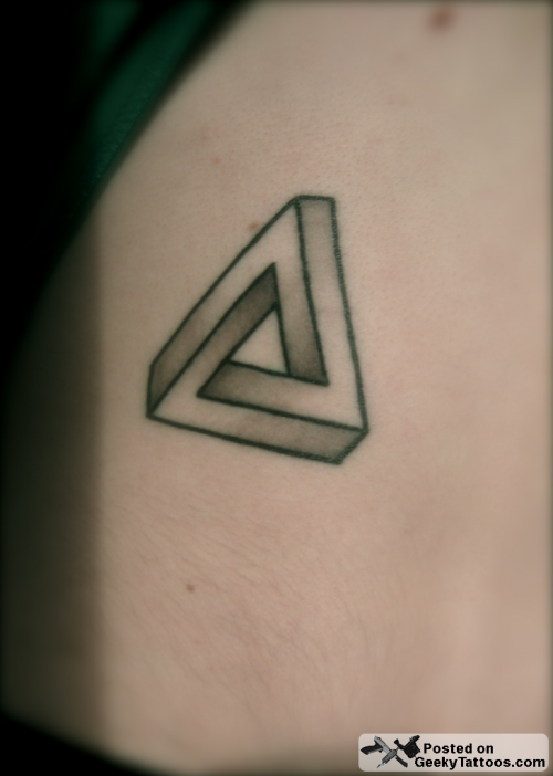 He sent in his simple yet elegantly geeky tattoo of a Penrose triangle