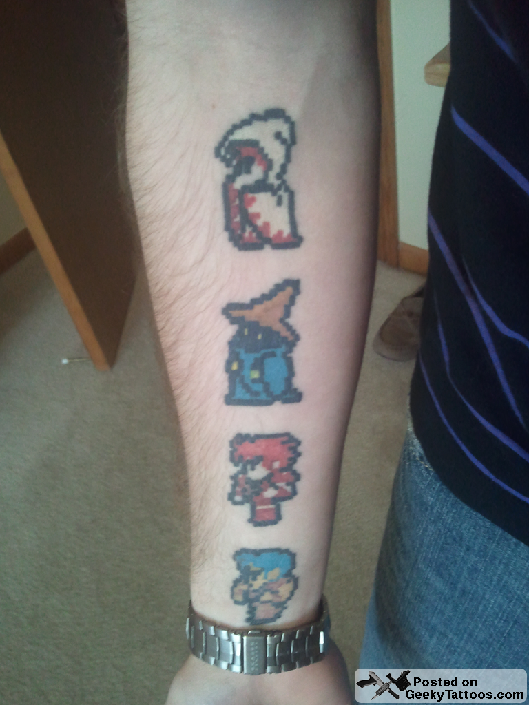 Final Fantasy 7 Tattoo Paper mario and final fantasy