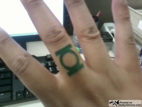 green lantern ring 2011. Green Lantern logo ring