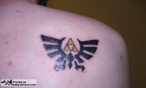 Tattoo designs for men arms tribal angel designs for for Triforce hand tattoo