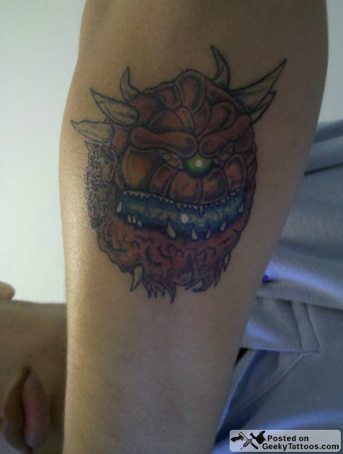 Game doom tattoos pictures to pin on pinterest tattooskid for Mf doom tattoo