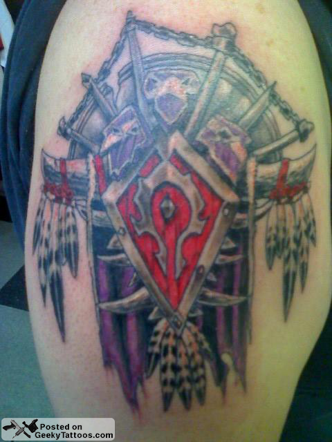 World Of Warcraft Horde Tattoo Geeky Tattoos