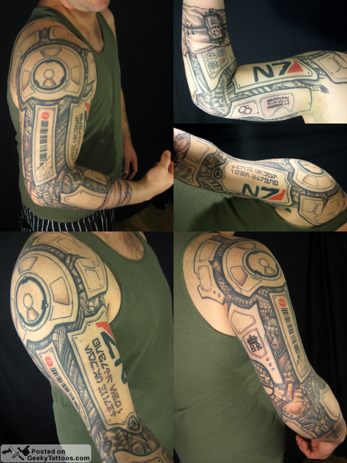 Ghost In The Shell Geekytattoos