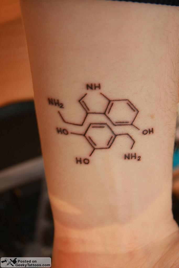 Egor's Neurotransmitter Tattoos @ Geeky Tattoos  Serotonin