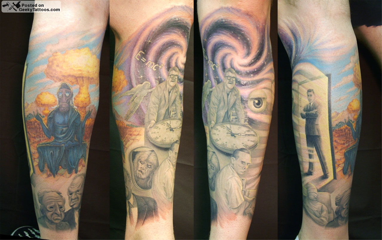 Twilight Zone Finished Geeky Tattoos