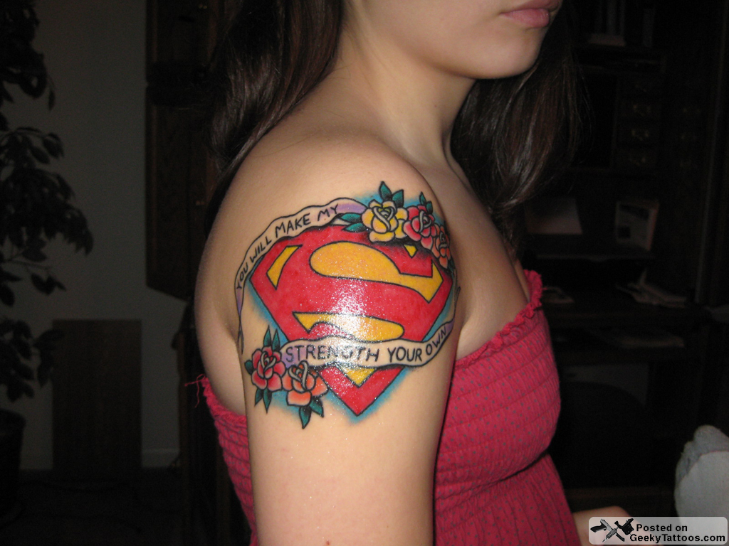 Cara's Superman Shoulder Superman-tattoo – Geeky Tattoos