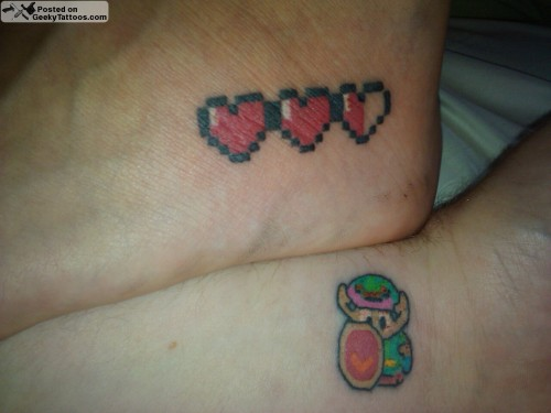 Link-and-hearts-tattoos