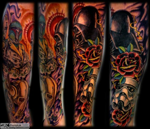 Star-Wars-Sleeve-tattoo-finished