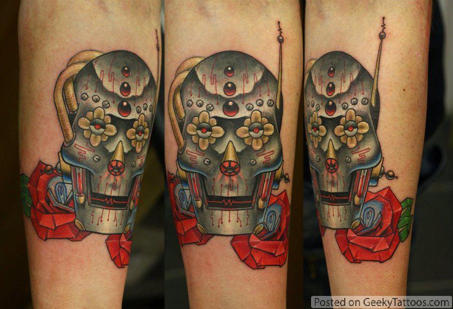 31cd12ed6 Robot Candy Skull