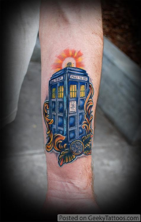 Tardis Tattoos Tardis Tattoos by Pamela