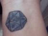 D20 wrist tattoo