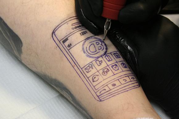 Blackberry Storm Tattoo 2