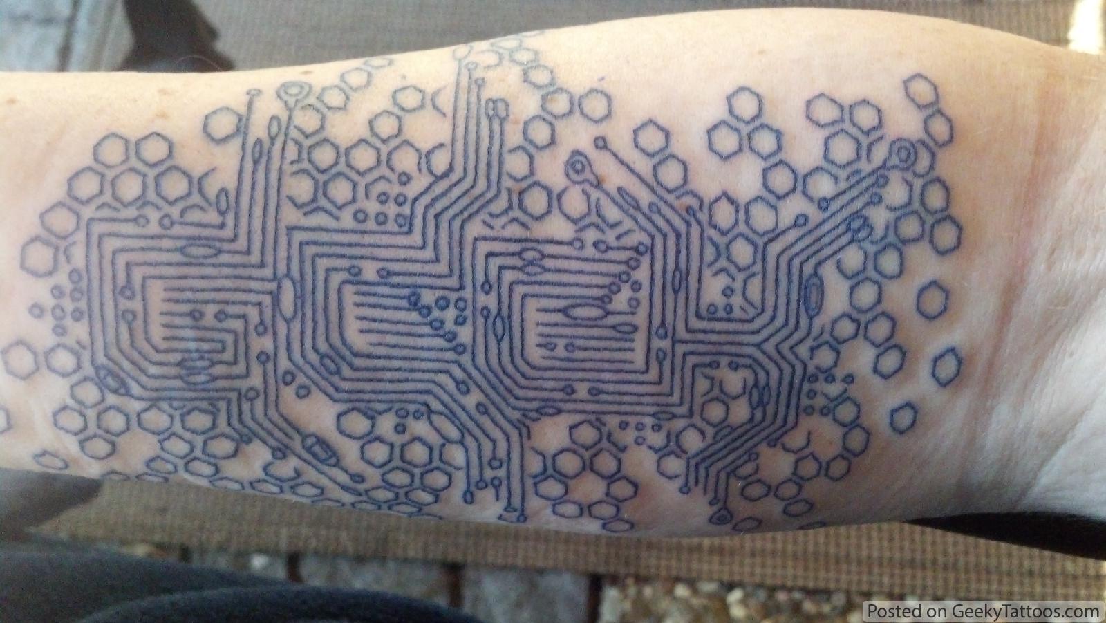 Geeky tattoos for Nerd tattoo designs
